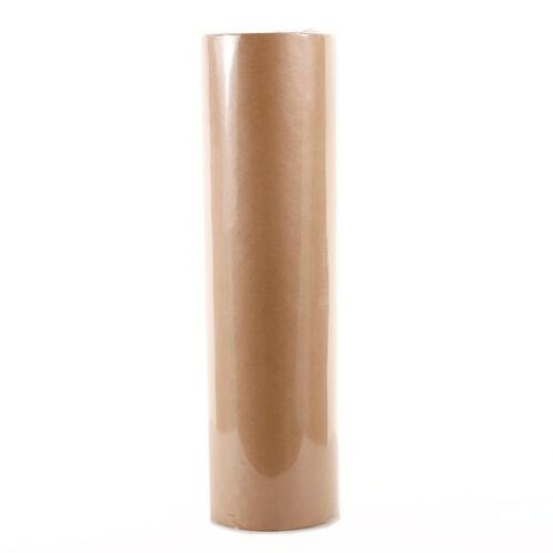 Florist Kraft Wrapping Paper Roll Ribbed 50cm x 200m 5kg Natural Brown Gift Wrap