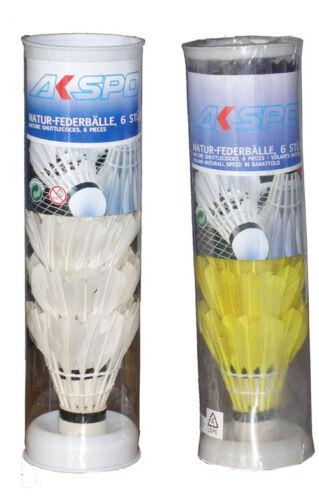6 Original Natur-Federbälle Profi Badminton-Bälle Bälle