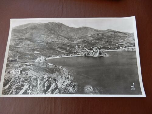 BANYULS authentic HUGE 1958 AERIAL PHOTOGRAPH 44 X 26 CM