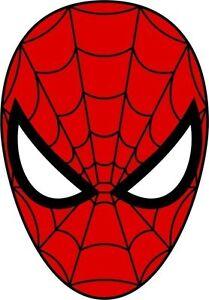 spiderman maske vorderseite spider man aufkleber. Black Bedroom Furniture Sets. Home Design Ideas