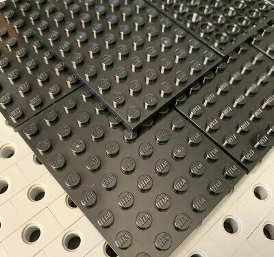 Lego 1 Black 6x8 base plate