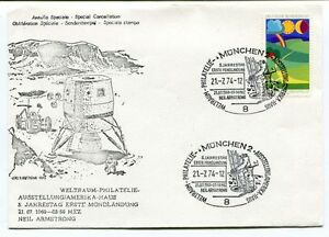 1974 Annullo Speciale Special Cancellation Markdorf Baden 5 Jahre Europa Space