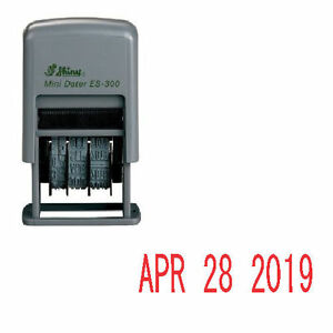 Image Is Loading Shiny Es 300 Rubber Date Stamp Self Inking