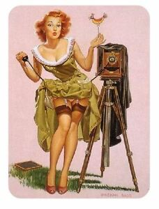 Vintage Style Pin Up Girl Sticker P71 Pinup Girl Sticker