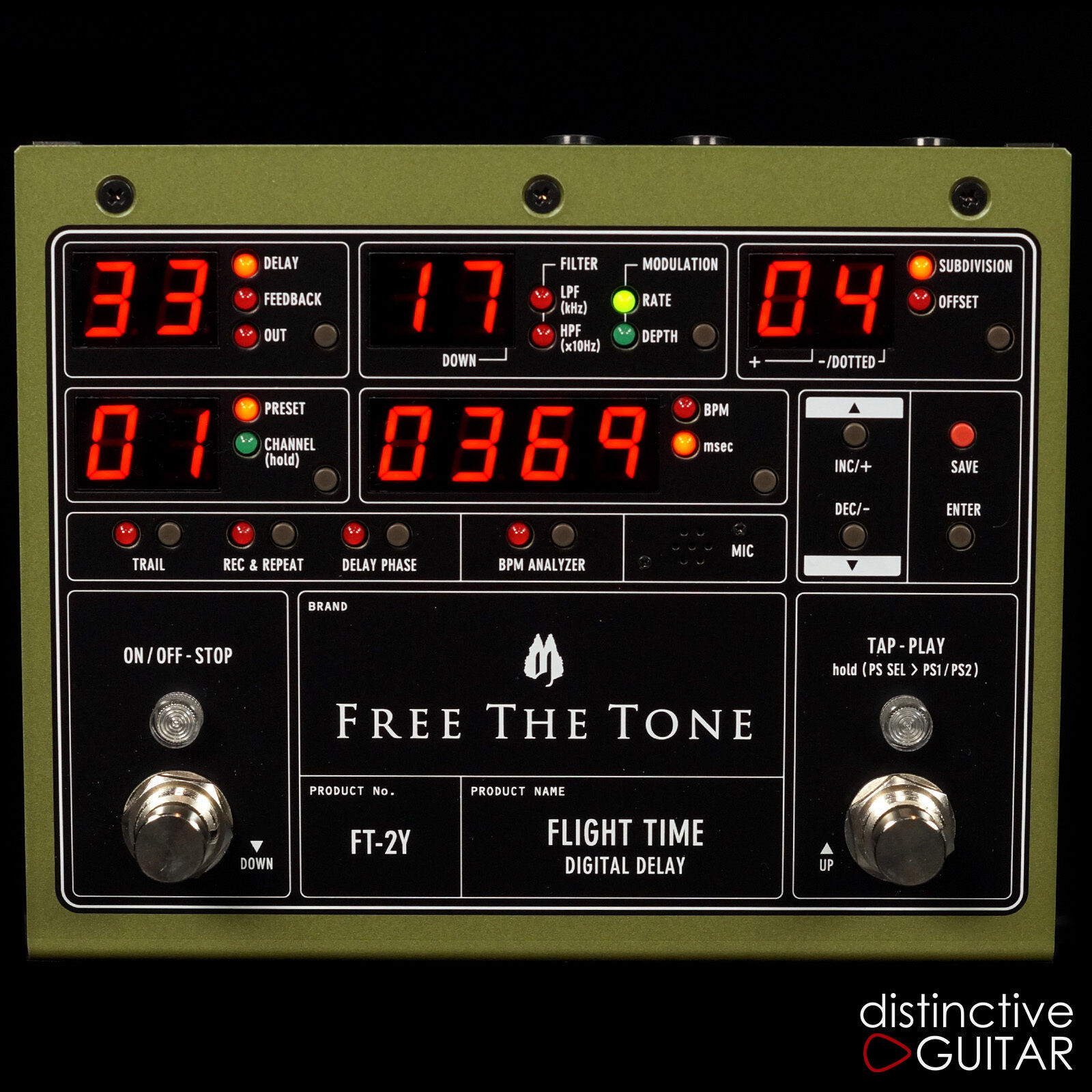 NEW FREE THE TONE FT2Y FLIGHT TIME DIGITAL DELAY BOUTIQUE GUITAR EFFECTS PEDAL