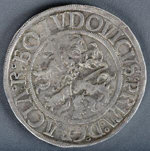 BOHEMIA-SCHLICK-1520-1526-ND-THALER-RARE-HORIZONTAL-M-TYPE-TOP-QUALITY