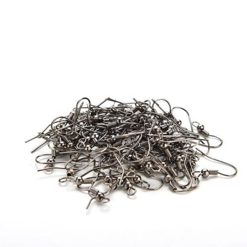 100pcs 18mm Wire Earrings Hooks Jewellery Findings DIY 4 Colors FO