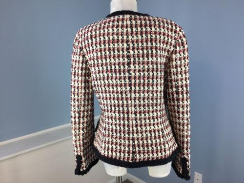Nero Giacca Rosso Boucle Wool Blazer Bianco Ottima Buchman Dana 6 carriera Cotton 0Fxzn0g