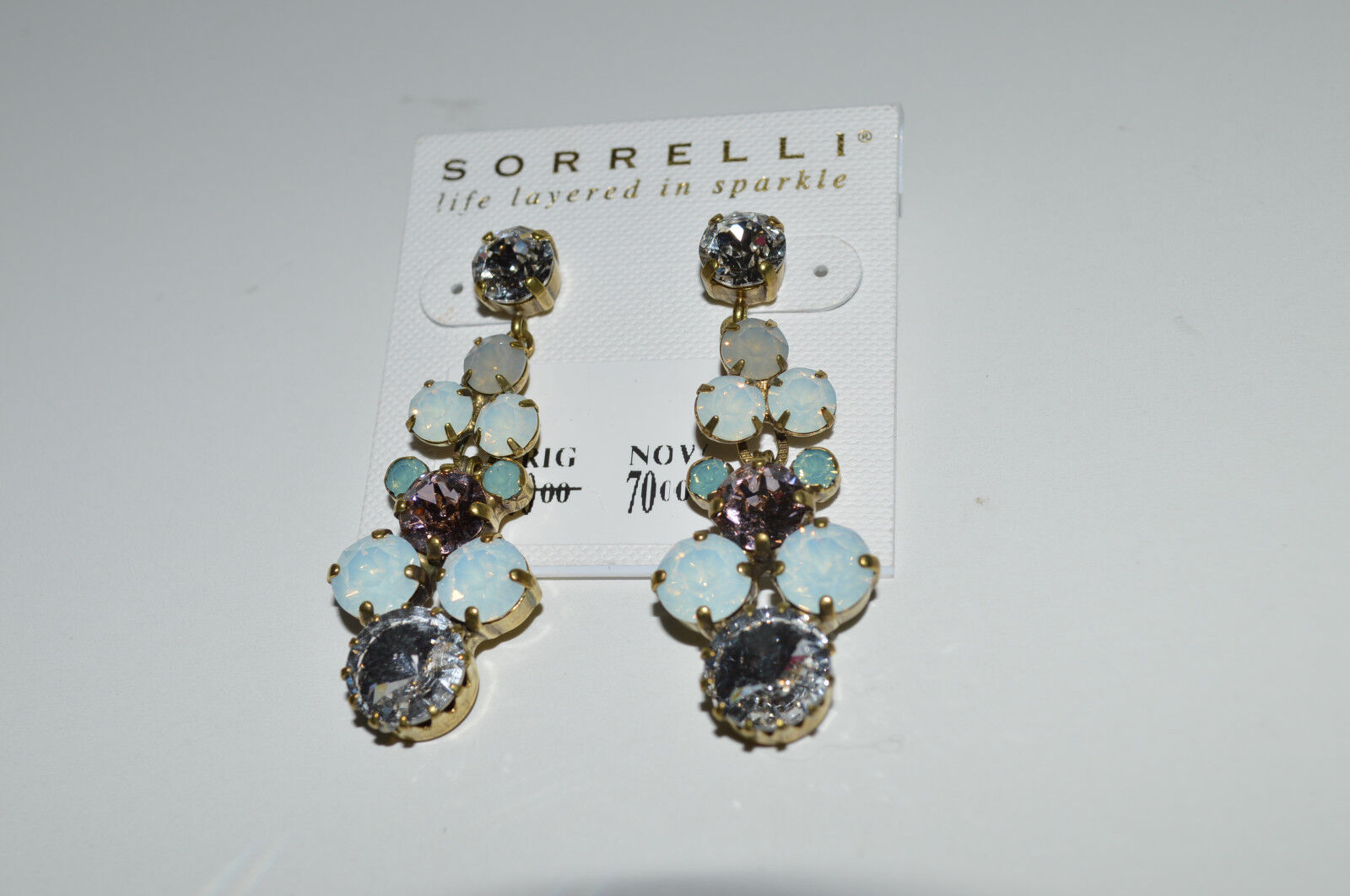 eb666018eff3 Sorrelli Rounded Crystal Drop in White Magnolia New Earring Well ...