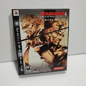 Metal Gear Solid 4: Guns of the Patriots (Sony PlayStation 3, 2008) LIMITED ED.