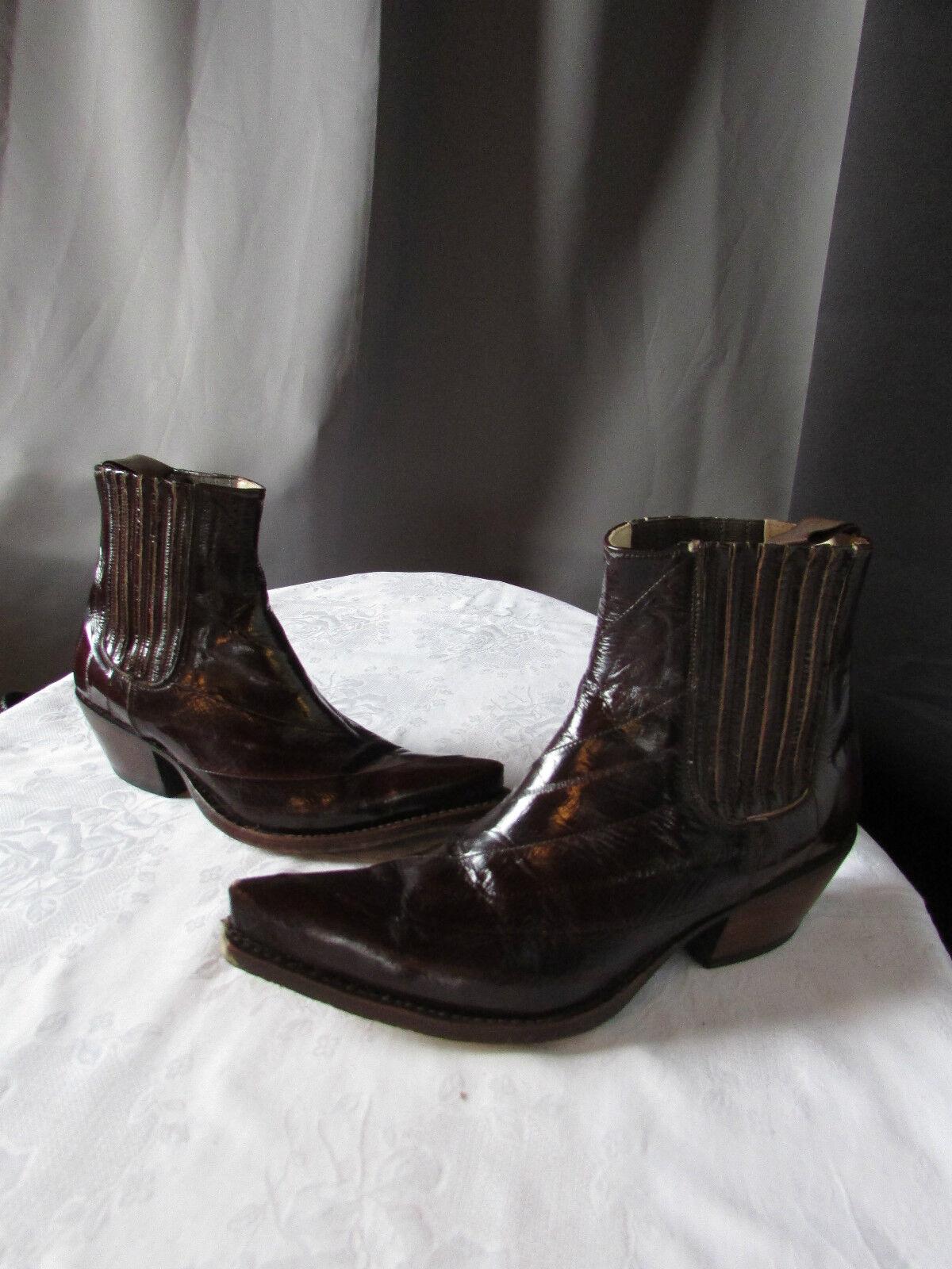 spedizione gratuita in tutto il mondo stivali bottines bottines bottines santiags tony mora cuir Marrone 37  all'ingrosso economico e di alta qualità