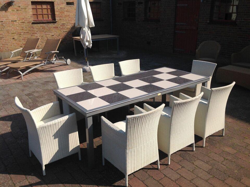 Havemøbelsæt, Daneline, Aluminium bord - polyrattan