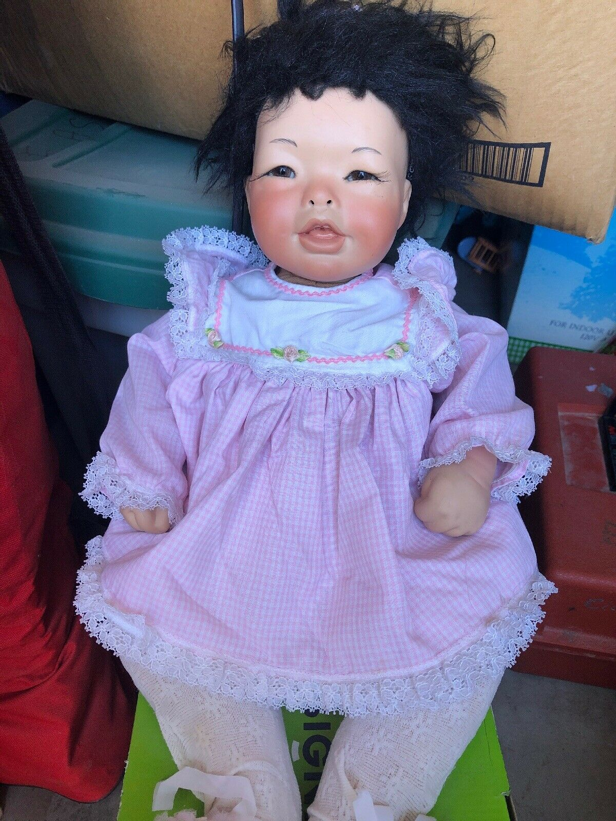 Vintage Collectible Porcelain Doll Asian Baby Doll Original Judith Turner  186
