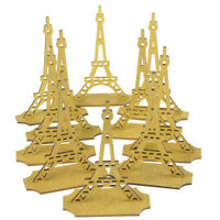 Glitter Eiffel Tower Stand Wooden Favors, 5-inch, 10-piece