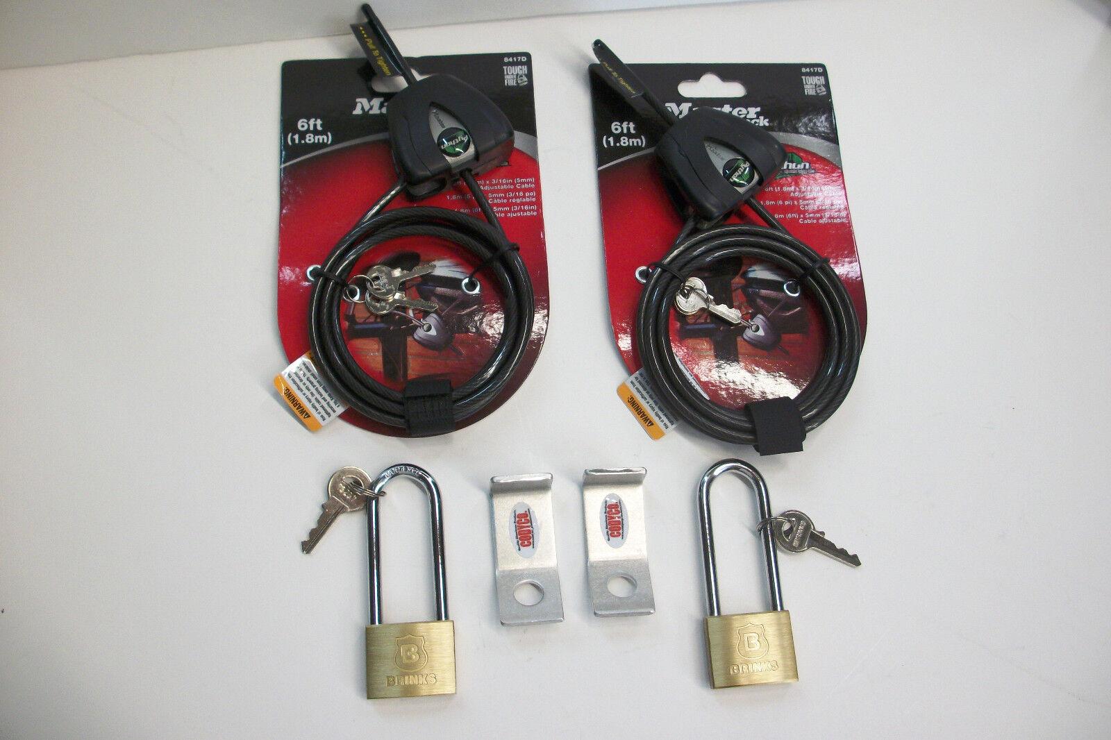 2 Soportes de bloqueo de aluminio codyco se adapta Yeti Roadie Cooler Pad Python Cable &