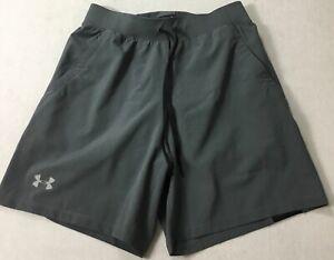 """Under Armour Men SpeedPocket 7"""" Lined Running Shorts 1351189 Gray 014 Size S"""