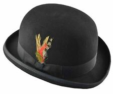 K Men's Wool Felt Derby Hat Medium Black