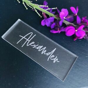 Clear-Acrylic-Table-Names-Personalised-Place-Setting-Rectangle-Place-Name