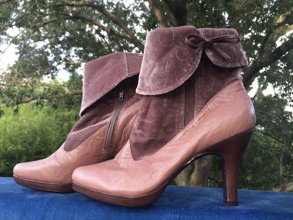 Licencia poética abuela Bota Botines Zapatos De De Tacones Altos De De Terciopelo Para Mujer Talla 6  5f3c21
