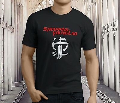 New STRAPPING YOUNG LAD *CITY Rock Band Long Sleeve Black T-Shirt Size S-3XL