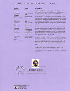 #4164 41c Purple Heart USPS #0730 Souvenir Page