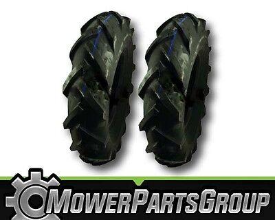 (2) AG Tiller Tires 4 Ply 4.80/4.00-8 4.8x4x8 4.8x4-8 4.80-4.00-8 480/400-8