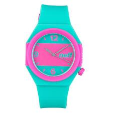 Neff Men's Stripe Watch Teal Pink Skate Streetwear Accessories Casual Circular