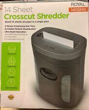 Nos Royal 14 Sheet Cross Cut Shredder Model 1405mx
