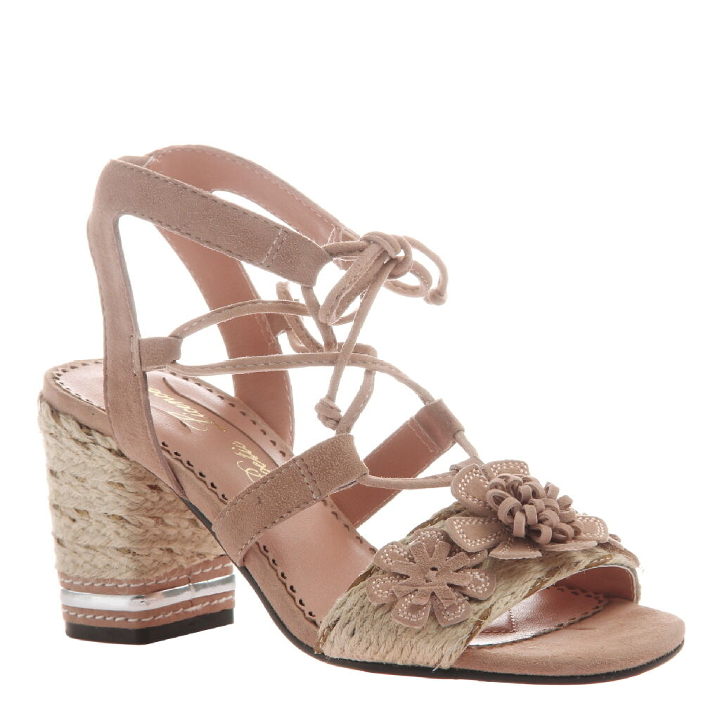 Poetic Licence Women's Entwined Ghillie Lace-Up Block Heel Sandals Pale Pale Pale pink 876a85