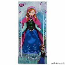 NEW Disney Store Frozen Anna Classic Doll Figure Princess Girl Deluxe Toy 12""