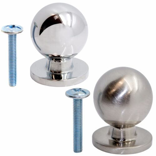 Premium en métal 25 mm balle Tiroir Boutons Poignée De Placard Armoire Porte Meubles