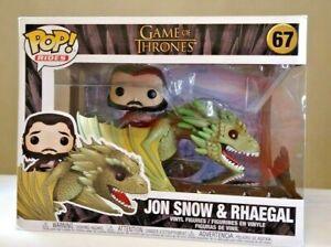 Jon Snow on Rhaegal Pop Ride Game of Thrones