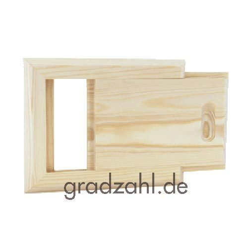 Sauna Lüftungsschieber Nadelholz Abluftschieber Lüftungsschlitz Entlüftung 620-P