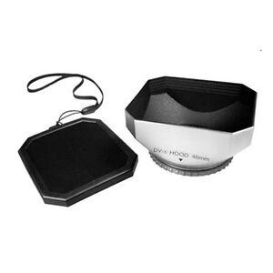 46mm-46-mm-Video-Lens-Hood-Shade-Plastic-Leash-for-Panasonic-DMC-FZ28-FZ18-NEW
