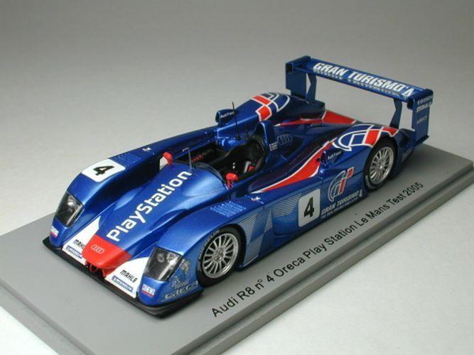 Spark 1 43 Audi R8 Oreca Play Station Test Car Le Mans 24h 2005 from Japan