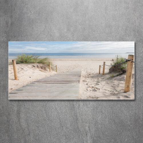Glas-Bild Wandbilder Druck auf Glas 120x60 Deko Landschaften Strand