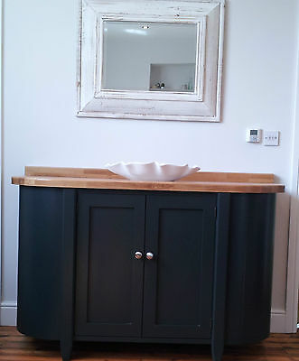 Painted Free Standing Kitchen Cupboard Unit With Curved Ends Ebay