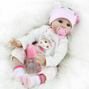 60CM Reborn Puppe Lebensecht Handgefertigt Weich Silikon-Vinyl Toddler Mädchen