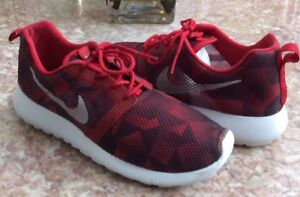 e988f9cd7a6f2 Nike Roshe One Flight Weight GS Red Silver Running Shoes Sz 5.5Y ...