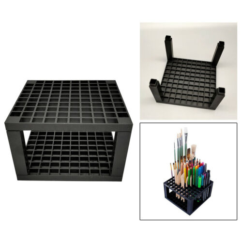 Paint Holder Pencil Marker Display Shelf Rack Crayon Organizer Stand Black
