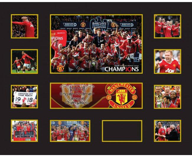 Nuevo Manchester United Edición Limitada Memorabilia Enmarcado