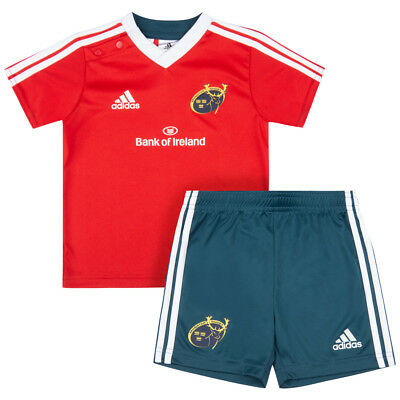 Ospitale Adidas Baby Set Kit Munster Rugby A Maniche Corte Maglia Pantaloni Tuta Set Rosso G70180 Nuovo- Ultima Tecnologia