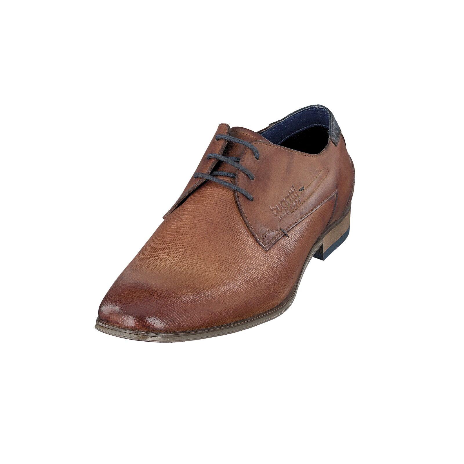 Bugatti Men 312-10108-2100 Herren Schuhe Business Schnürschuhe Hochzeit Cognac