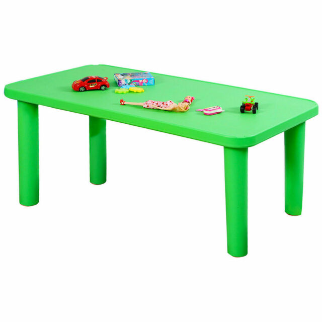 Stupendous Kids Colorful Plastic Table And 4 Chairs Set Stackable For Children Play Dining Camellatalisay Diy Chair Ideas Camellatalisaycom