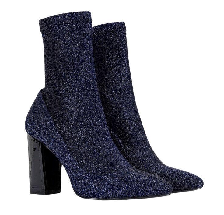 ! nuevo! KAT Maconie 'Alexis'S Brillante Azul Tacón Alto Tobillo Botas Talla UK6, 39 euros