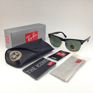 519fbe35b1 Details about Ray-Ban oversized sunglasses men s clubmaster RB4175 877 57  matte Black   green