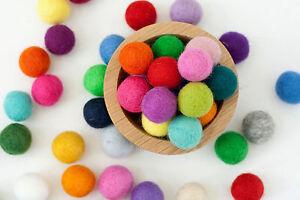 Christmas decoration Pom Pom Felt Balls 2 cm Pure wool Nursery Craft Supplies