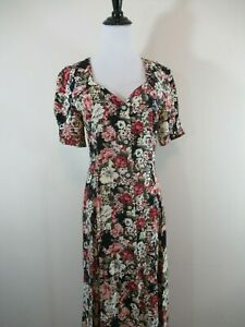 vintage 90s floral maxi dress grunge long boho secretary