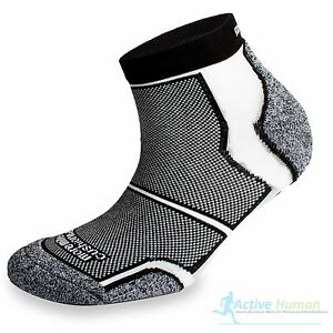 3-Pairs-Running-Socks-Mens-Cushioned-More-Mile-COOLMAX-Sports-Fitness-Gym-Black