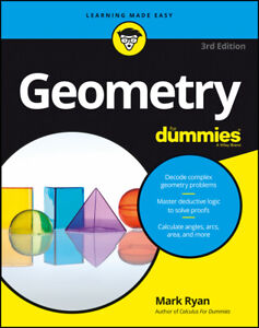 NEW BOOK Geometry For Dummies by Mark Ryan (2016)